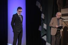 Od lewej: Piotr Kozak (finalista), Seweryn Blandzi (Jury)