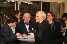 pierwsza od prawej - Katarzyna Skarżanka, obok - Tadeusz Szawiel, członek Jury