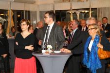 w trakcie bankietu (w głębi, nieco po prawej, Marcin Poręba, Laureat Konkursu)